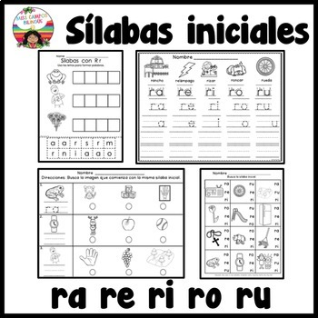 Letra R ra, re, ri, ro, ru BUNDLE