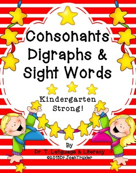 Consonants, Digraphs, and Sight Words (Preschool and Kinde