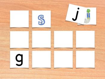 Consonants Memory Game - Juego de memoria de los consonantes