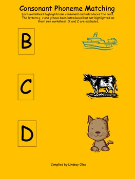 Consonants Phoneme Worksheets