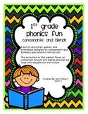 Consonants and Consonant Blends: First Grade Phonics Fun