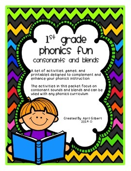 Consonants and Consonant Blends: First Grade Phonics Fun