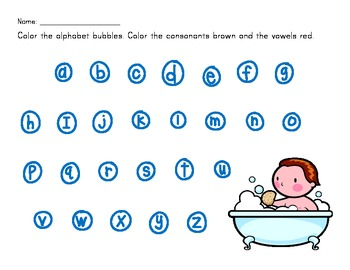 Consonants and Vowels Distinguishing