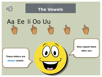 Consonants and Vowels Lesson (with Audio Accompaniment)
