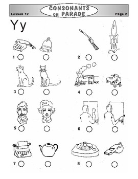 Consonants on Parade Lesson 12: The Letters X, Y, and Z
