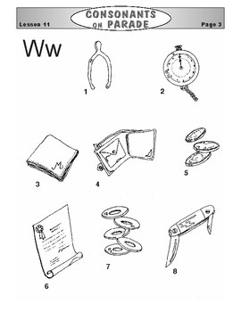 Consonats on Parade Lesson 11: The Letters K, V, and W