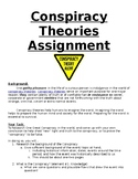 Conspiracy Theories Assignment/ Project- Students love this!