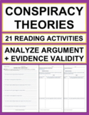 Conspiracy Theories Reading Response - Analyze Argument & Evidence Validity