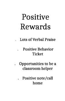 Consquence/Reward Posters