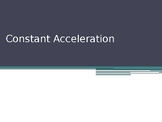 Constant Acceleration PowerPoint with Guided Cornell Notes