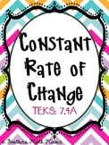 Constant Rate of Change, 7.4A