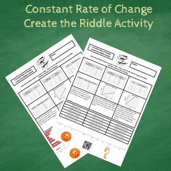 Constant Rate of Change:  Graphs, Tables & Word Problems Create the Riddle