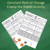 Constant Rate of Change:  Graphs, Tables & Word Problems C