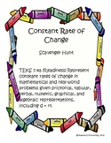 Constant Rate of Change Scavenger Hunt 7.4a