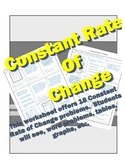 Constant Rate of Change (Slope)