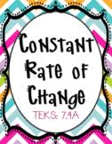 Constant Rate of Change (TEKS 7.4A) Bundle