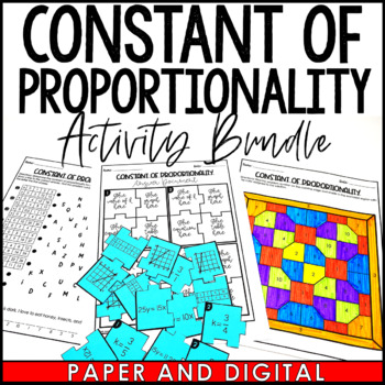 Constant Of Proportionality And Slope Activity Pack By Jessica Barnett
