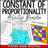 Constant of Proportionality and Slope Activity Pack bundle