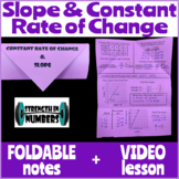 Constant Rate of Change and Slope Foldable Notes Interacti
