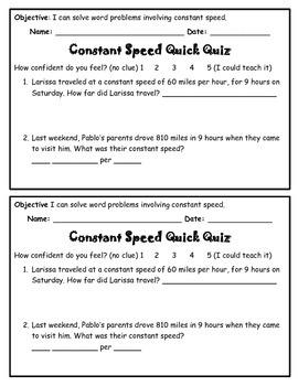 Constant Speed Quick Quiz