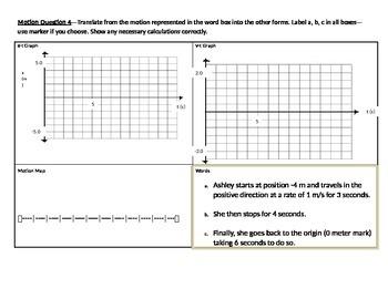 STEM/NGSS: Physics Constant Velocity Model ASSESSMENT