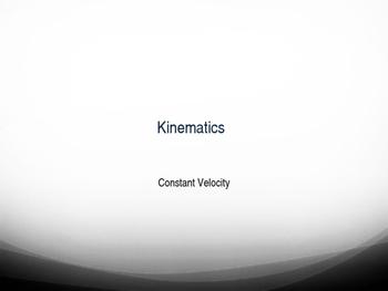 Constant Velocity Notes