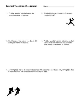 Constant Velocity and Acceleration Assessment