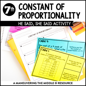 Constant Proportionality Teaching Resources Teachers Pay Teachers