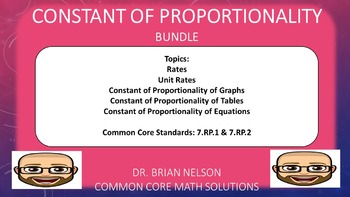 Constant of Proportionality Bundle (PowerPoint Lessons and Printables!)