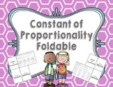 Constant of Proportionality Foldable