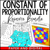 Constant of Proportionality Lesson Bundle - Distance Learning