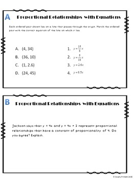 Constant of Proportionality Mini-Unit (7.RP.2)