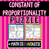 Constant of Proportionality Puzzle (Words, Tables, Graphs, & Equations)