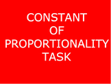 Constant of Proportionality Task