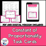 Constant of Proportionality Task Cards CCS 7.RP.2