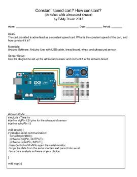 Constant velocity cart arduino based Lab