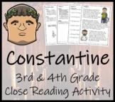 Constantine - 3rd Grade & 4th Grade Close Reading Activity