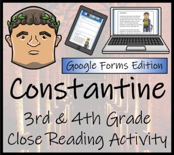 Constantine Close Reading Activity Digital & Print | 3rd Grade & 4th Grade