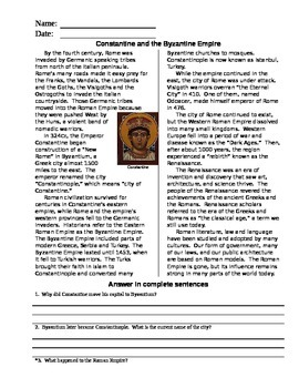 Constantine and the Byzantine Empire