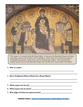 Constantinople and the Hagia Sophia Visual Analysis Worksheet