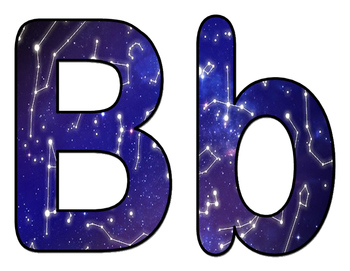 Constellation BB Letters and Numbers