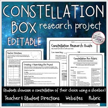Constellation Mythology Box Project