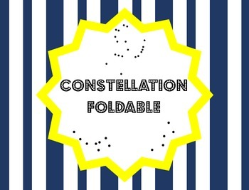 Constellation Foldable for Interactive Notebooks