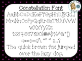 Constellation Font {True Type Font for personal and commercial use}