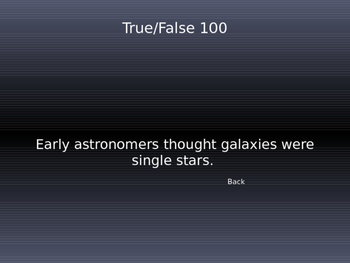 Constellation Jeopardy