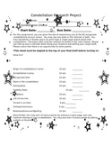 Constellation Report Project and Rubric Independent Work P