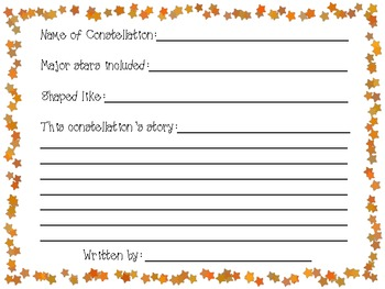 Constellation Report Template and Craft