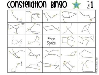 Constellation Tube Craft Activity and BINGO Combo Pack