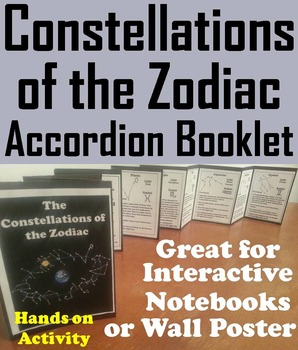 Constellations of the Zodiac Interactive Notebook Activity/ Foldable Mini Book