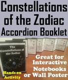 Zodiac Constellations Interactive Notebook Activity/ Foldable Mini Book